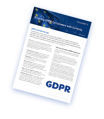 cohesity gdpr whitepaper example